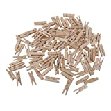 Imported 100pcs Natural Wooden Pegs Clot...