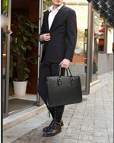 LAIDAYE Geschäfts-Handtaschen-Mann-Aktenkoffer-Geschäfts-Schulter-Beutel-Kurier-Beutel-Kurier-Beutel Blue