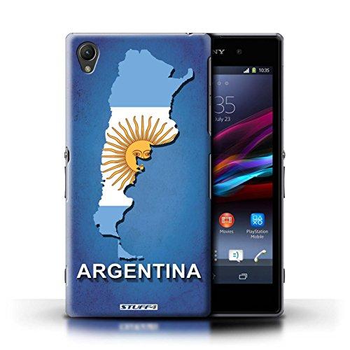 Kobalt® Imprimé Etui / Coque pour Sony Xperia Z1 / Amérique/Américain/USA conception / Série Drapeau Pays Argentine