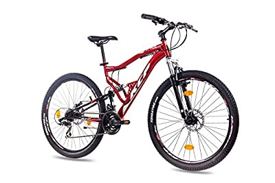 "27,5"" Zoll MOUNTAINBIKE FAHRRAD KCP ATTACK Unisex mit 21 Gang SHIMANO TX rot schwarz"