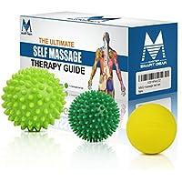 Massage Therapy palla Set - Spiky e Lacrosse 3-Piece Combo Pack Perfetto per la terapia fisica e Trigger punto di rilascio con eBook Guida & Carry Bag