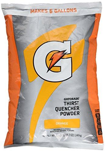 Gatorade Instant Powder - 6 gal orange powder drink mix 14-51oz pkg by Gatorade -
