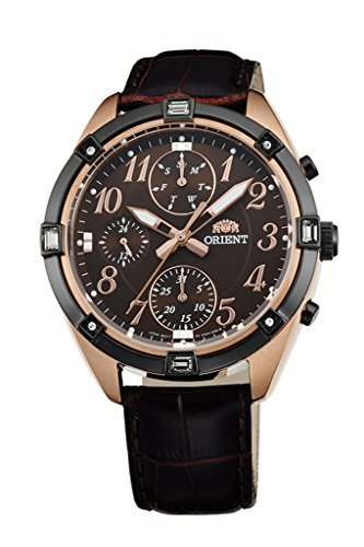 ORIENT à la mode à quartz chronographe montre pour femme Uy04004t