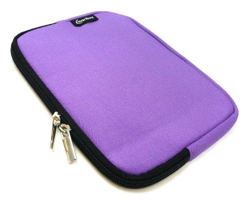 Emartbuy® Lila Wasser Resistant Neoprene Weich Zip Case Cover Tasche Hülle Sleeve Geeignet Für I.onik TP - 1200QC 7.85 Inch Tablet (8 -Zoll-Tablet)