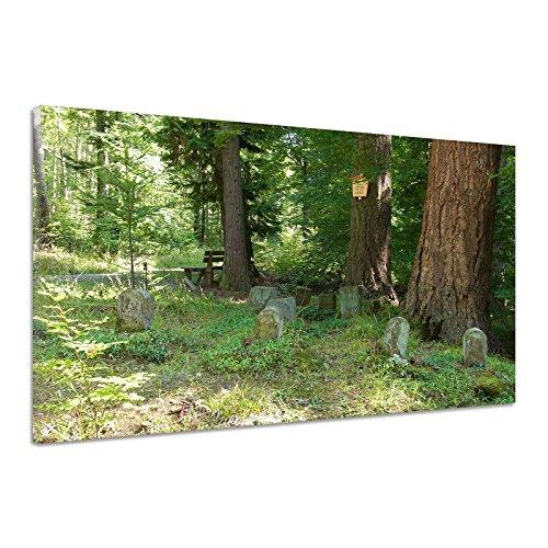 Hunde Tiere Ruhe Wald Grabsteine Friedhof Leinwand Poster Druck Bild aa2707 150x100