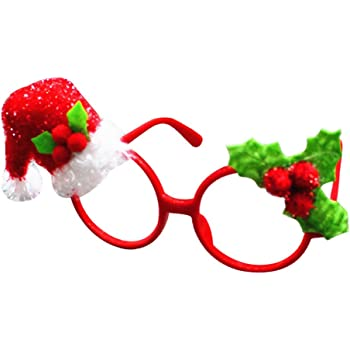 ffb1240b73 Nuohuilekeji Christmas Santa Claus Snowman Glasses Frame Xmas Party  Decoration Props size Christmas Hat