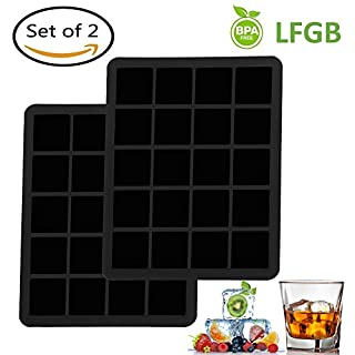 ANYOYO Ice Cube Tray 40 Square Food Grade Ice Cube Moulds for Whiskey Cocktails or Drinks- Jelly,Candy,Chocolate Mold. Awesome Gift for, Kids,Friends.(Set of 2)