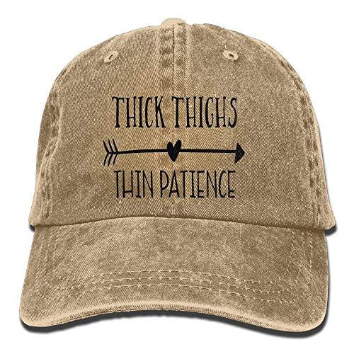 Preisvergleich Produktbild Wfispiy Thick Thighs Thin Patience Unisex Denim Baseball Cap Adjustable Strap Low Profile Plain Hats Outdoor Casquette Snapback Hats Natural 010645