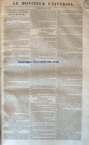 MONITEUR UNIVERSEL (LE) [No 121] du 30/04/1836 - INTERIEUR / PARIS - COUR DE CASSATION - CHAMBRE DES PAIRS