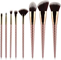 Start Makers Makeup Brush Set with Diamond Unicorn Handle (Champagne Gold)