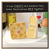 """They'd Always Brie Together!"" Cheesy Anniversary or Valentine's Day Card"