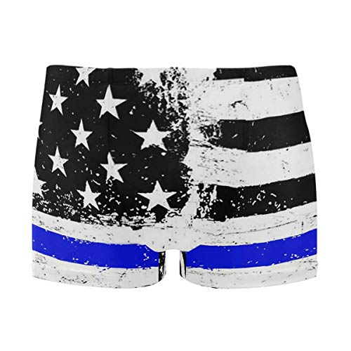 best gift Mens Swim Trunks American Flag Boxer Briefs Board Short Beach Shorts Men Swimming Briefs Swimwear L -