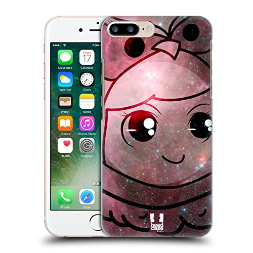 Head Case Designs Eule Kostüm Kawaii Galaxie Ruckseite Hülle für Apple iPhone 7 Plus (Iphone Kostüme)