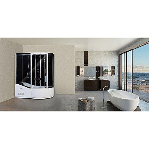 Home Deluxe ALL IN 4in1 Duschtempel, inkl. Dampfsauna und komplettem Zubehör (schwarz, rechts) - 3