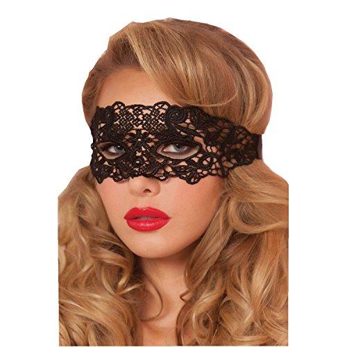 DAYAN Frauen-venetianische Maskerade-Halloween-Partei-Kostüm-Spitze Augenmaske Farbe Schwarz