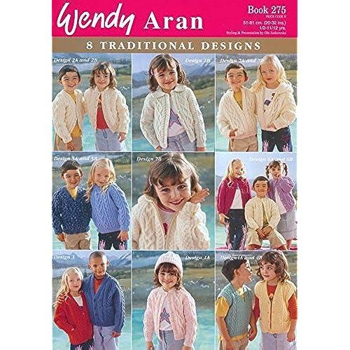 Aran knitting patterns for children amazon wendy childrens traditional aran designs 275 knitting pattern book aran dt1010fo