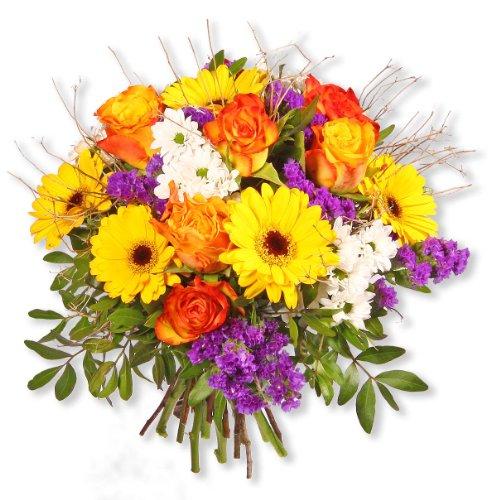 """floristikvergleich.de Blumenstrauß Blumenversand """"Sunny Day"""" +Gratis Grußkarte+Wunschtermin+Frischhaltemittel+Geschenkverpackung"""