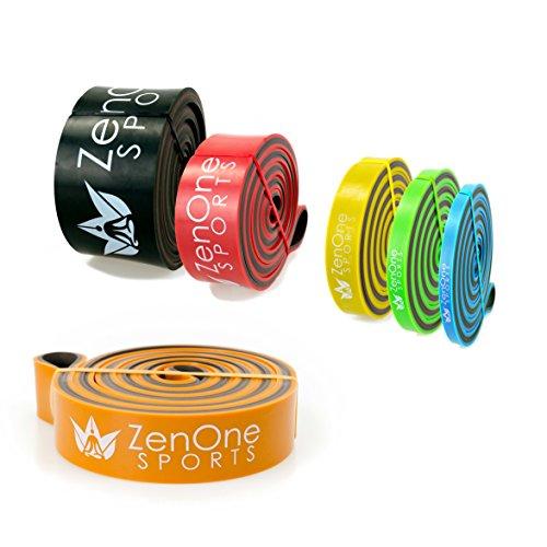 ZenBands Power HEAVY Pull Up Resistance Bands I Sportband in 6 Stärken inkl. GRATIS E-BOOK & Workout-Guide I Das Premium Trainings-Band für CrossFit, Krafttraining, Stretching & Klimmzug-Hilfe