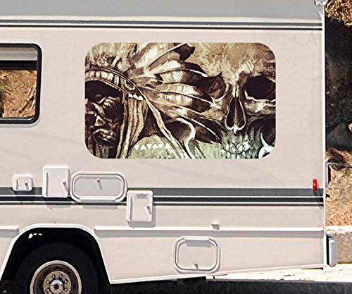 3d-autoaufkleber-indianer-hauptling-schmuck-tod-schadel-wohnmobil-auto-kfz-fenster-motorhaube-sticke