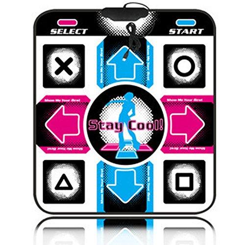 Manta de Baile USB 11 Teclas PC TV Video Juego Set Entretenimiento y Fitness (Multicolor)
