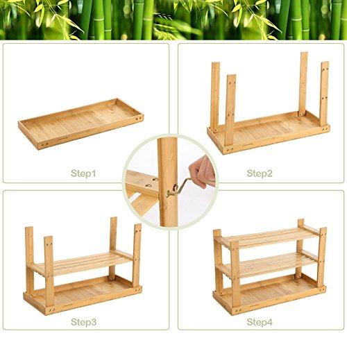 Sitzbank / Schuhregal aus Bambus - 6