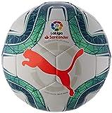 PUMA LaLiga 1 MS Trainer Balón de Fútbol, Adultos Unisex, White-Green Glimmer-Nrgy Red, 5