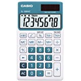 CASIO SL-300NC-BU-S-EH - Calculadora básica, 8 x 70 x 118.5 mm, azul