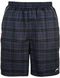 Slazenger Hombre De Cuadros Shorts Pantalones Cortos Deporte Entrenar Casual