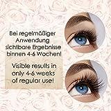 Wimpernserum 4 ml. Premium Deluxe Eyelash Wimpern-Booster Serum für Wimpern und Augenbrauen I Wimpernverlängerungsserum mit HYALURON + KOFFEIN + ALOE VERA - 3
