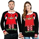 Pärchen Pullover Weihnachts-Elfen