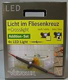 Voltolux LED Licht Fliesenkreuz Erweiterungsset blau 4x0,275W