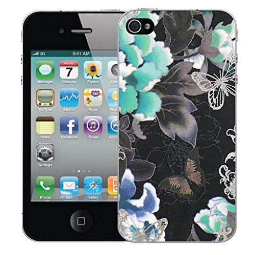 iphone 4 4s Dur Coque couverture Pare-chocs Case Cover - bleu posy conception par Mobile Case Mate Bleu