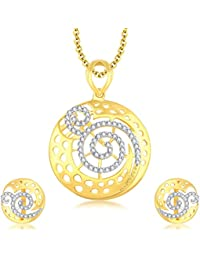 Sukkhi Excellent Gold Plated CZ Pendant Set For Women