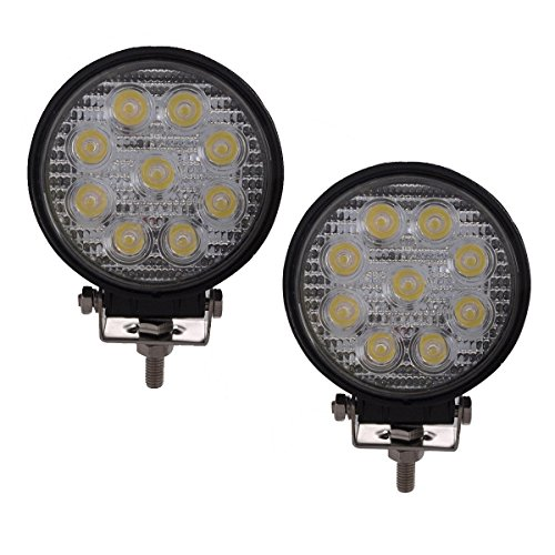Lightronic 2 stücke 27 Watt Spot Runde LED Arbeitslicht Nebel Driving DRL Offroad SUV Boot Lkw ATV Auto Ute