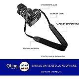 Sangle d'Epaule Neoprene Universelle pour Appareils Photos (pour Canon Nikon Sony Olympus Pentax et plus )