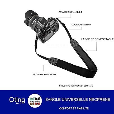Sangle d'Epaule Neoprene Universelle pour Appareils Photos (pour Canon Nikon Sony Olympus Pentax et plus