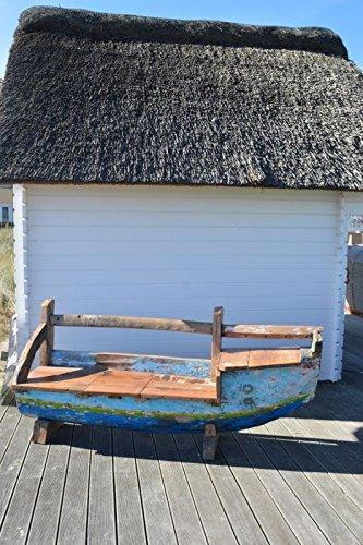 Ploß 1020015 Gartenbank Bootsform Lehne Bug rechts, B/T/H: 210 x 50 x 90 cm, 1020015