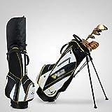 JQWGYGEFQD Borsa da Golf, Sacca da Golf con Sacca da Golf per Uomo e Donna, 14 sacche, 14 sacche con Un Set Completo di clavette, 14 Prese con tracolle, Materiale Ultraleggero (Color : F)
