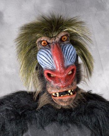 Zagone Studios M7005 Baboon Volle Aktion Kost-m Maske (Voll Latex Maske Adult)