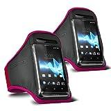 ONX3 - TWIN PACK - Samsung Galaxy S3 Neo (Dual Sim) verstellbarem Schultergurt Jogging Wandern Gymnasium Sports Armband (Pink)