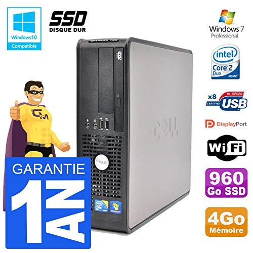 Dell Pc 780 SFF Intel E7500 Ram 4gb SSD 960go Dvd-Brenner Wifi W7 (Dell 780-desktop)