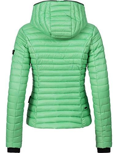 Navahoo Damen Jacke Übergangsjacke Steppjacke Kimuk (vegan hergestellt) 17 Farben + Camouflage XS-XXL Mintgreen