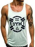 OZONEE Mix Herren Tanktop Tank Top Tankshirt T-Shirt Unterhemden Ärmellos Muskelshirt Fitness B/181479 PFEFFERMINZ L