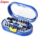 Saver Jackly 21pcs ht0372bcr de doble extremo de destornillador de trinquete equipos electrónicos herramientas de reparación del kit