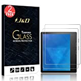 J&D Compatible for 2-Pack New Kindle Oasis 2017/2019 Glass Screen Protector, [Tempered Glass] Ballistic Glass Screen Protector for All-New Kindle Oasis E-reader 2017, 9th Generation Screen Protector