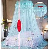 Hicustomer Kinderzimmer Traumzelt Kuppel Prinzessin Stil Moskitonetz Dekoration Anti-Moskito-Zelt size C (Blue)
