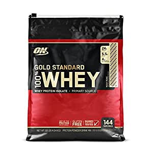Optimum Nutrition (ON) Gold Standard 100% Whey Protein Powder - 10 lbs, 4.54 kg (Rocky Road)