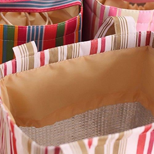 MEIZU88tela lunch box bag sacchetti per alimenti, con tasche per viaggio picnic, Tela, Grey + White, 20cm x 13cm x 20cm Grey + White