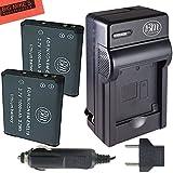 Pack of 2 EN-EL19 Batteries & Battery Charger Kit for Nikon Coolpix S32 S100 S3100 S3200 S3300 S3500 S3600 S4100 S4200 S4300 S5200 S5300 S6400 S6500 S6800 Digital Camera + More!!