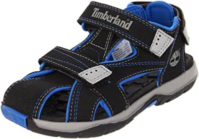 Timberland Mad River Closed Toe, Boys' Sandals, Black/Royal, 3.5 UK Child